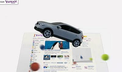 仏Yahoo! 日産全面広告