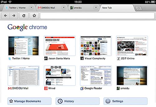 iPad用Google Chrome