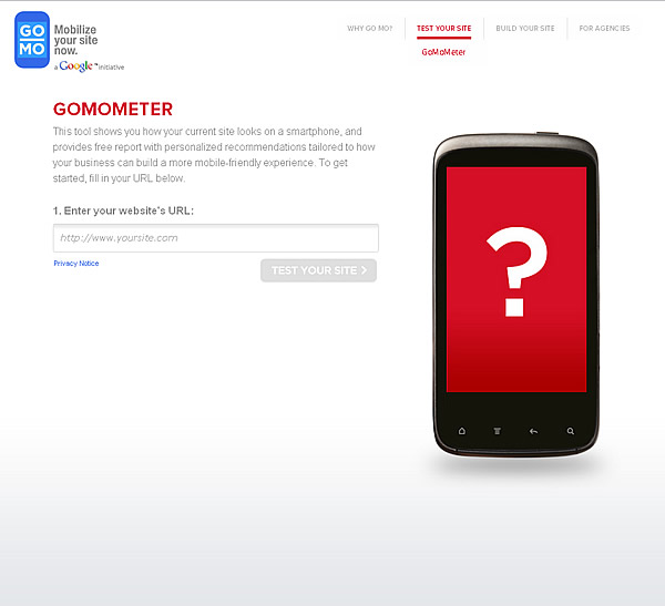 Google GoMoMeter Mobile Site Diagnosis