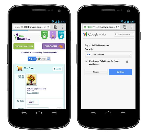 Google WalletがモバイルUIに最適化