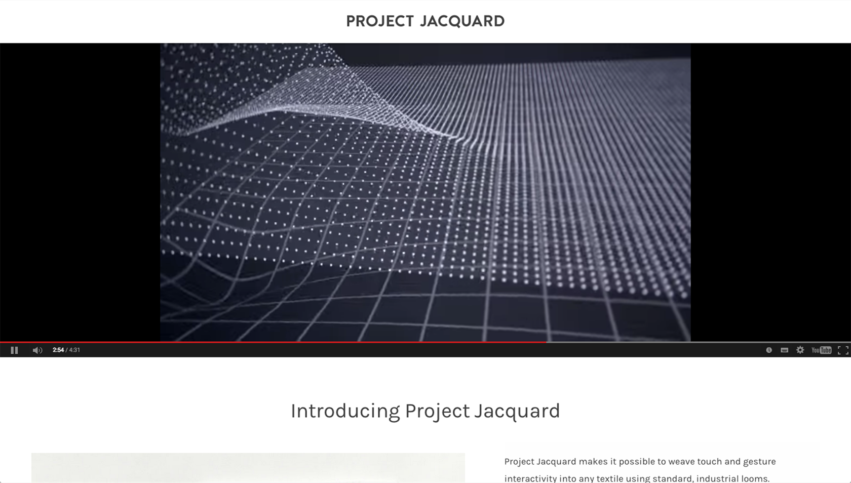 Google ATAP - Project Jacquard