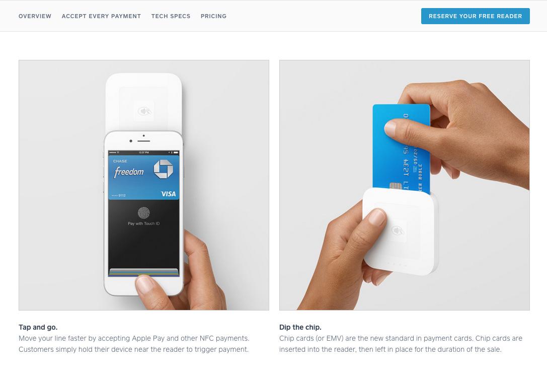 Apple Pay対応のSquareカードリーダー