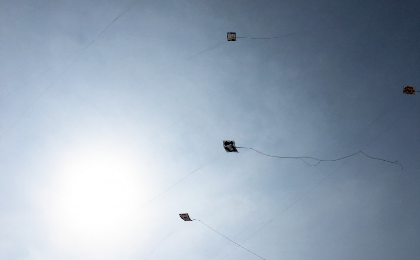 平成28年度伝承会でのひ組の凧