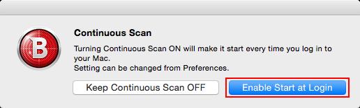 Mac起動時にVirus Scanner Plusを常駐させる