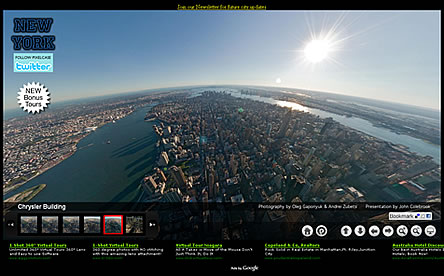 Aerial Virtual tour of New York