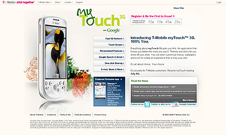 Androidケータイ myTouch 3G