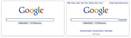 Google ホームページがフェード
