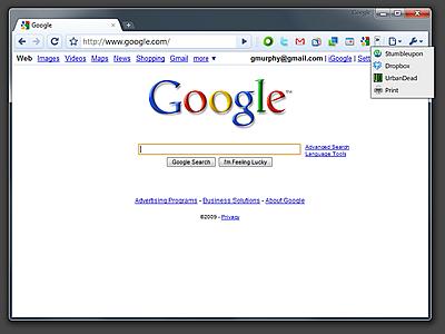 Google Chrome エクステンション(拡張機能)ボタンの表示可能数を増やすプルダウンメニュー
