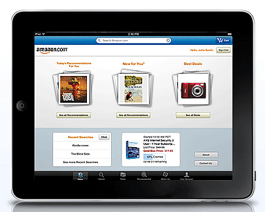 アマゾンのiPad用アプリ