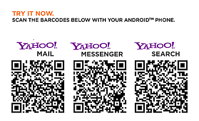 米Yahoo! Android用 HTML5 Yahoo!mailなどのQRコード