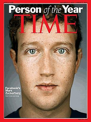 マーク・ザッカーバーグ氏、2010年Time誌今年の人に
