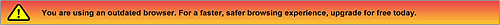 IE6からアップグレードを促すバナー