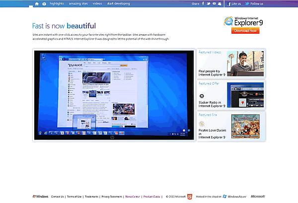 Beauty of the Web - Microsoft IE9