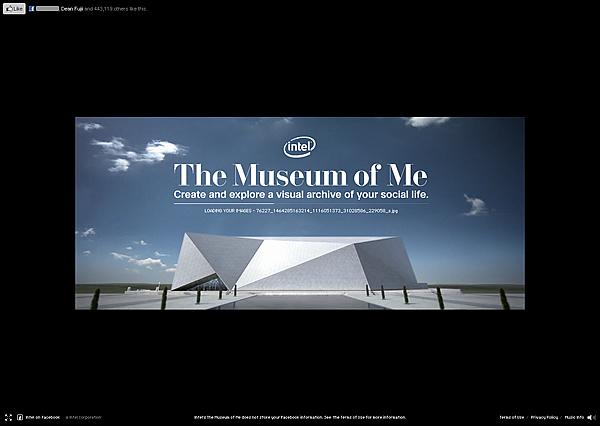 Intel Core i5 Facebook キャンペーンサイト The Meseum of Me