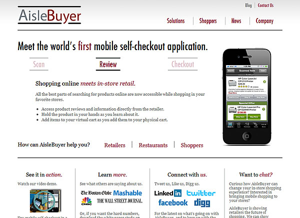 iPhone 決済アプリ AisleBuyer