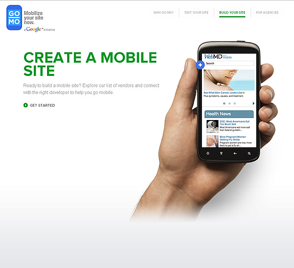 Google GoMoMeter Create Mobile Site
