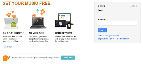 Google Music - Set your music free.