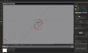 Google Web Designerでの3Dコンテンツ作成画面