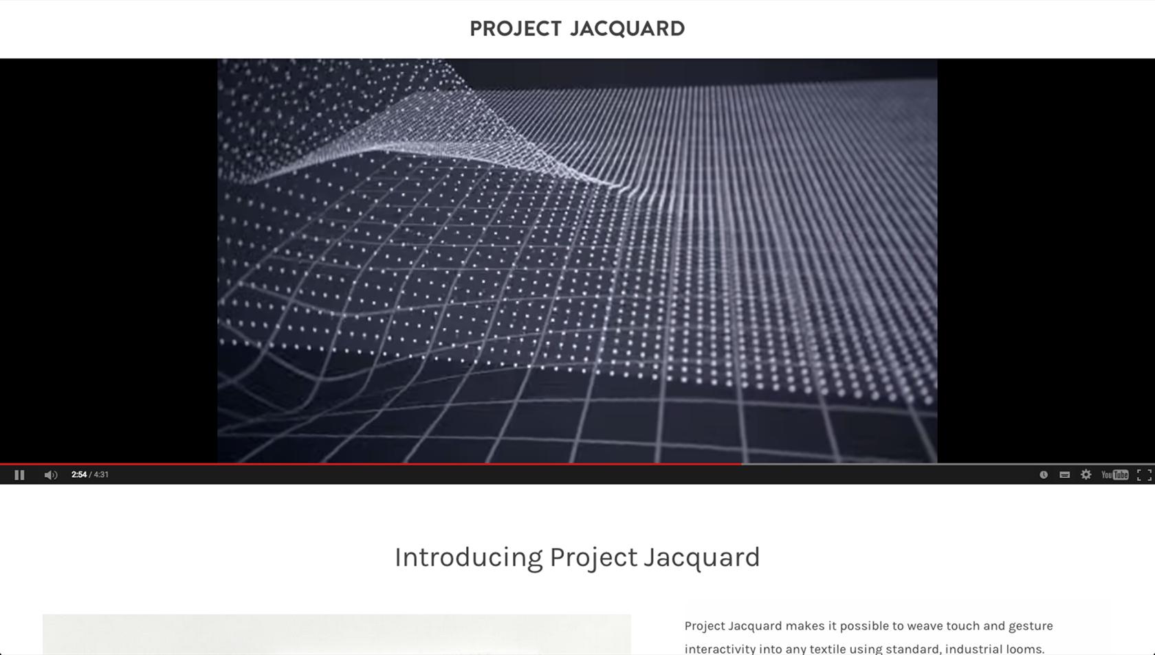 Google ATAP - Project Jacquard