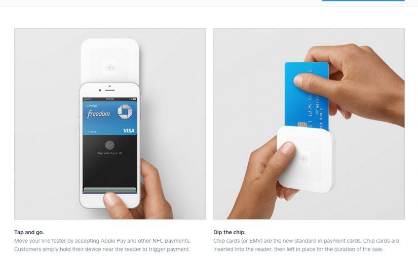 SquareのApple Pay対応カードリーダー、リアルのカードも使用可能