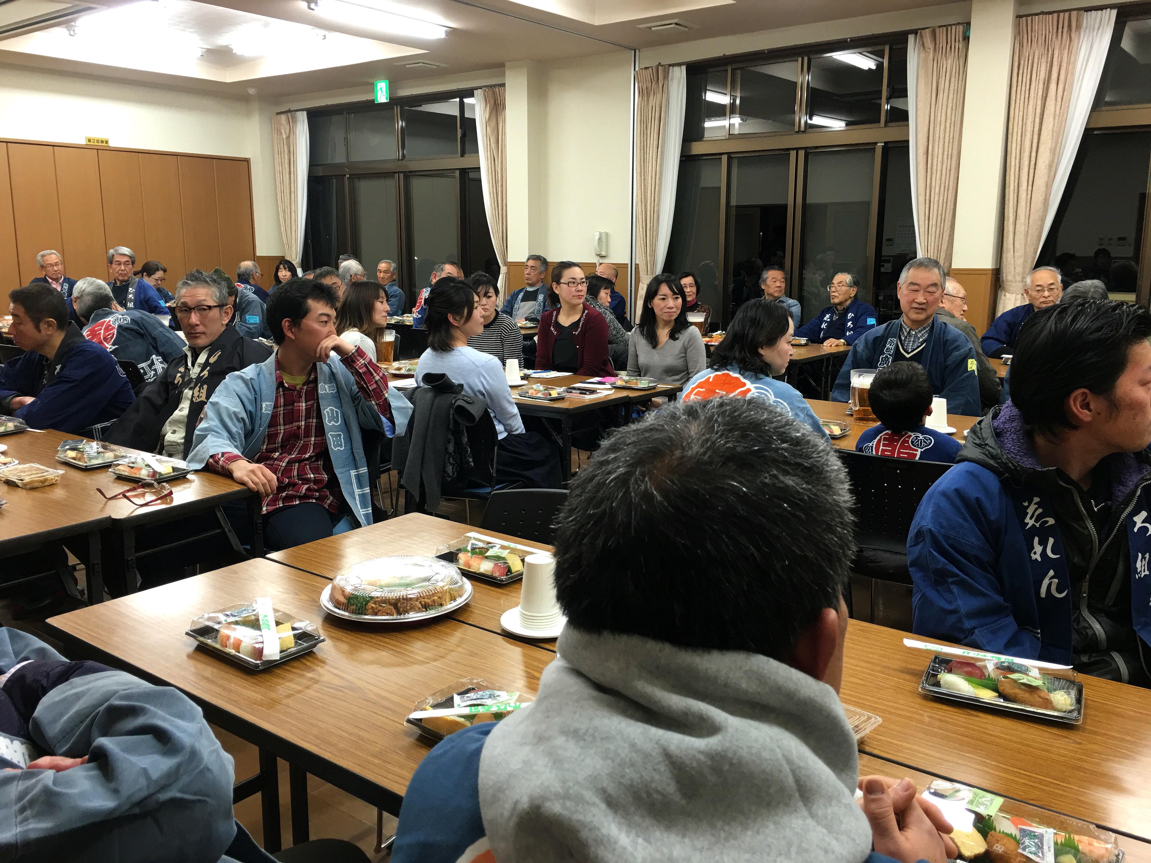 平成28年度広沢町凧揚会ひ組発会式の様子