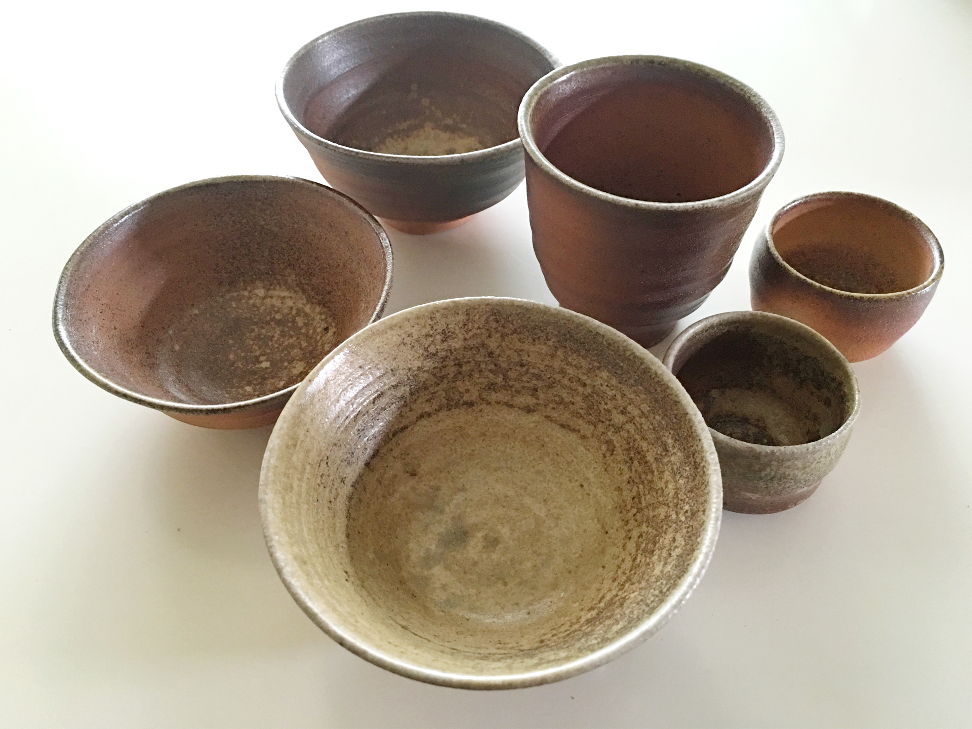 完成した陶器類