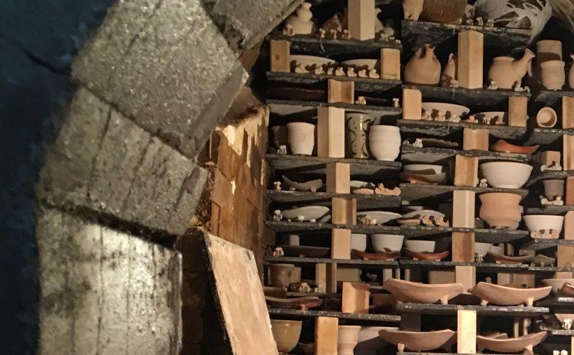 陶芸の窯の中